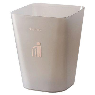 Frosted Trash Can for Home Kitchen Bathroom Bedroom Living Room