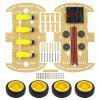 Smart Kit 4WD Smart Robot Car Chassis Set - GOLDENROD