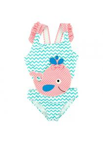 B - 007 Infant and Young Child Big Whale Cartoon Female One-piece Swimsuit