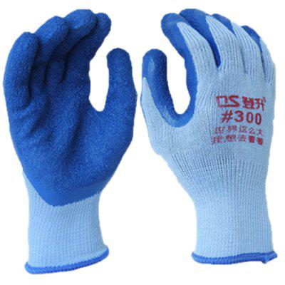 10 Pin 21 Blue Gray Polyester Cotton Latex Wrinkle Protective Gloves