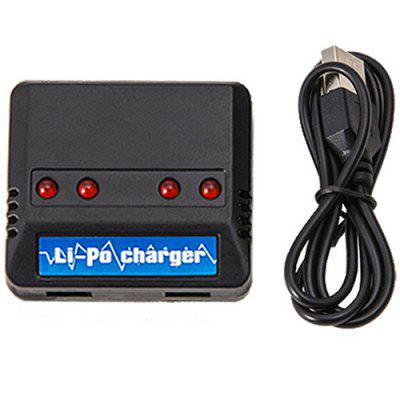 RC Aircraft Li-ion Battery Charger USB Multi-port One for Four