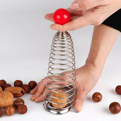 Stainless Steel Spring Walnut Grip Shelling Tool