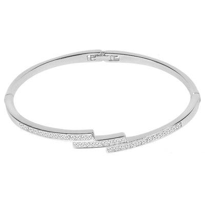 LS - 0100 Trapezoidal Diamond Temperament Women's Classic Bracelet