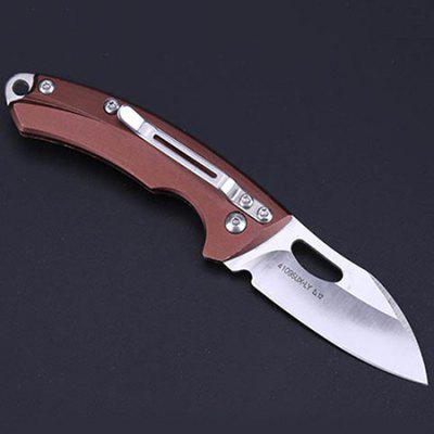 4109SUX Exquisite Gift Three-blade Wood Tactical Folding Knife