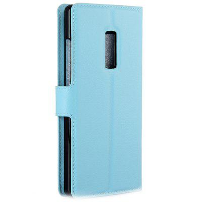 Litchi PU Leather Wallet Case for OnePlus Two