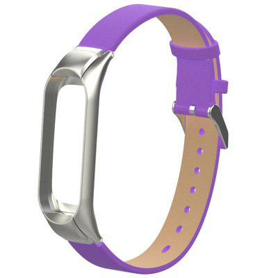 PU Metal Framework Watch Strap for Xiaomi Mi Band 3
