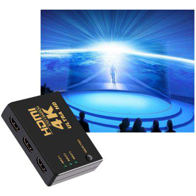 4K Mini HDMI Switch Splitter Box with Remote Control