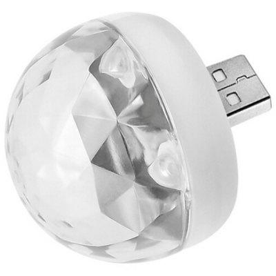 Mini USB rotante a LED Stage Light Voice Control Piccola lampada a sfera magica