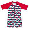 B - 005 Baby Infant Children's One-piece Swimsuit - RED