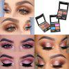 ME0005 4 Color Natural Flash Matte Metal Eye Shadow Palette with Brush - MULTI-B