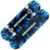 CHIYUAN Four-wheeled Double-sided Pattern Color Sand Skateboard - CRYSTAL BLUE