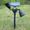 36-LED Double-head Solar Power Lawn Light for Outdoor - BLACK