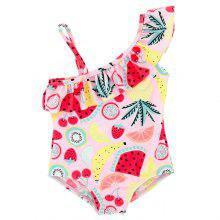 B - 004   Child Print One-piece Swimsuit