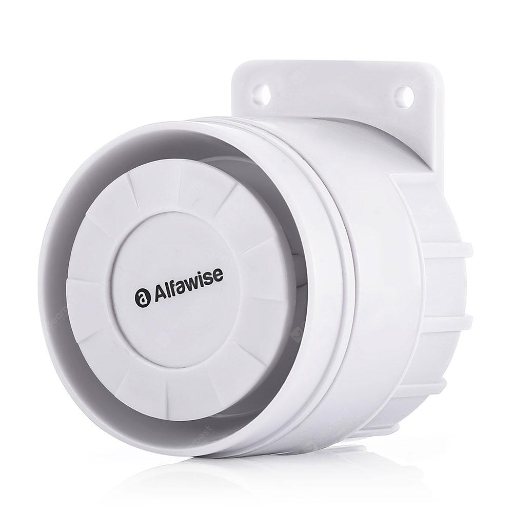 Alfawise 433MHz 100dB Loud Noise Wired Alert Siren - White