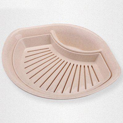 Drain Dumpling Dish with Vinegar Saucer Snack Plate