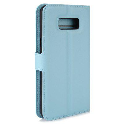 Litchi PU Leather Wallet Phone Case For Samsung Galaxy S8