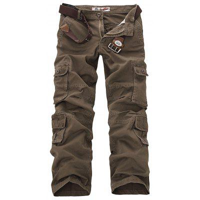 Mens Casual Military Multi-pocket Cargo Pants