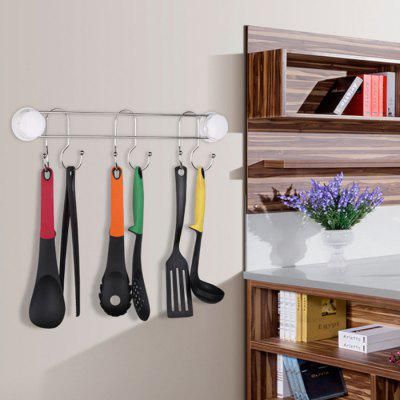 Kitchen Strong Seamless Stainless Steel Suction Cup Hook