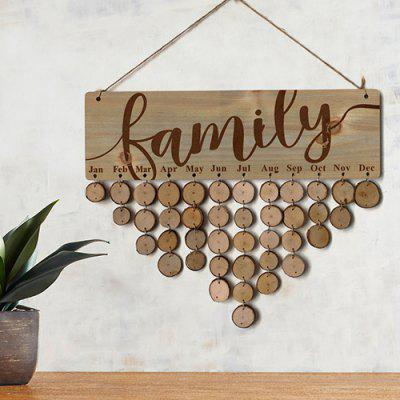 JM01087 Wooden Country Reminder Message Note Board