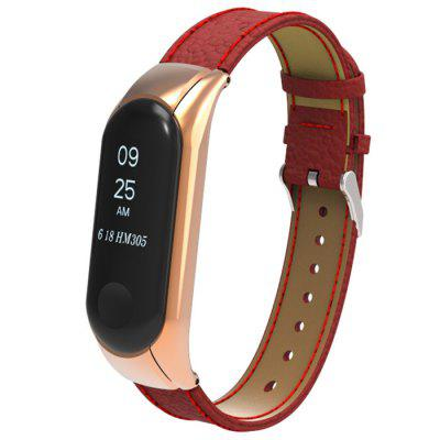 Leather Crepe Wristband for Xiaomi Bracelet 3