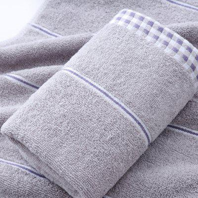 Cotton Plaid Side Wash Towel