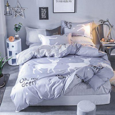 Nordic Minimalist Modern Fashion Elk Bedding Set