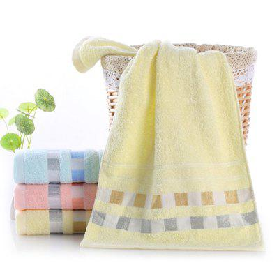 Square Plaid Cotton Daily Absorbent Towel