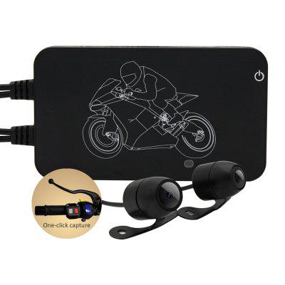 MT002 Full HD 1080p Double Lens Motorcycle Black Box Image