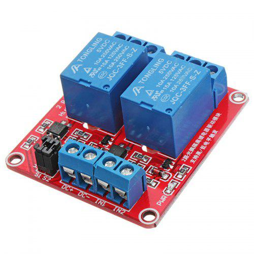 5V 12V 24V 2 Channel Level Trigger Optocoupler Relay Module for Arduino