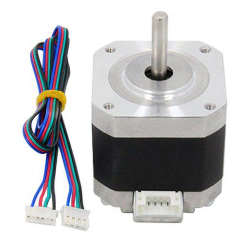 4-lead Nema17 Stepper Motor 42 Step 42BYGH 1.5A 17HS4401 1.8 DC for CNC XYZ 3D Printers Parts with 4pin 800mm Dupont Cable
