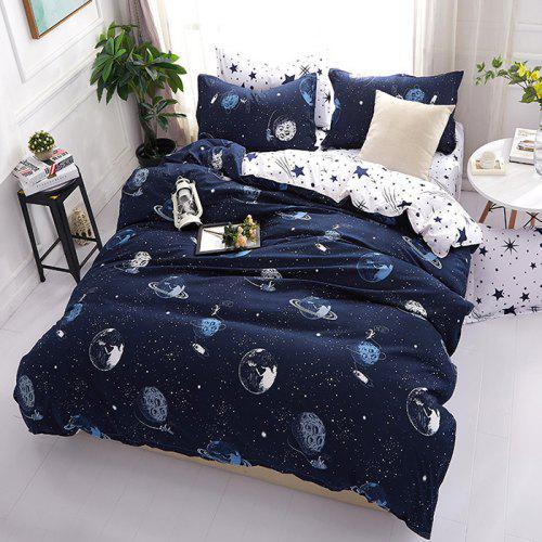Fantasy Starry Star Wars Future Cosmic Printed Bedding Set