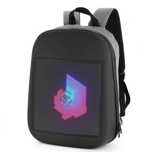 Fashion WIFI Version Smart Led Dynamic Backpack – GRAY 398135201