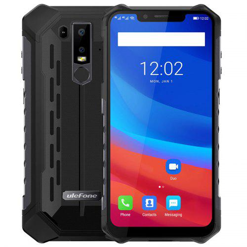 Ulefone Armor 6 4G Phablet – BLACK EUROPEAN UNION 405191101 6GB RAM 128GB ROM 8.0MP Front Camera Fingerprint Sensor Corning Gorilla Glass 5