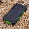 F5 Solar Charger Mobile Phone Power Bank - GREEN