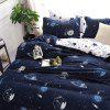 Fantasy Starry Star Wars Future Cosmic Printed Bedding Set - MIDNIGHT BLUE