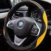 Auto Accessories 38 Universal 3D Stitching Anti-skid Steering Wheel Cover - YELLOW