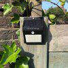 HB - 2A20 Solar Small Triangle LED Garden Courtyard Waterproof Wall Lamp - BLACK