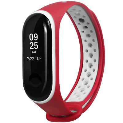 Two-color Air Hole Wrist Strap for Xiaomi Mi Band 3