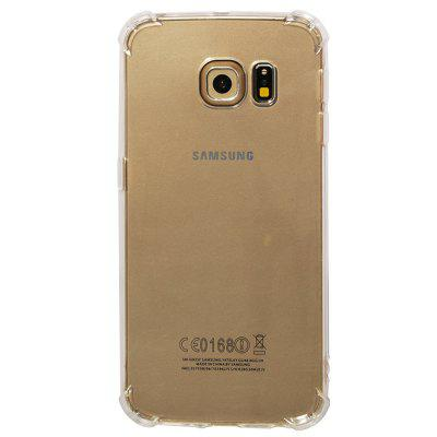 TPU Full Soft Drop-proof Transparent Phone Case for Samsung Galaxy S6 Edge