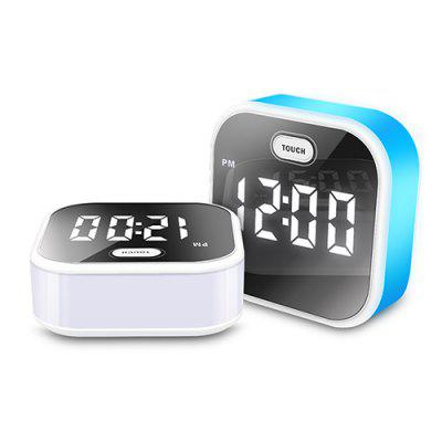 Intelligent Voice  with Night Lights Control Mirror Charging LED Alarm