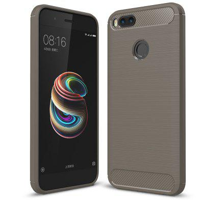 Carbon Fiber Brushed Silicone Phone Case for Xiaomi Mi 5X / A1