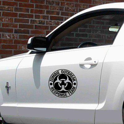 MUC005 ZOMBIE OUTBREAK Car Decoration Sticker