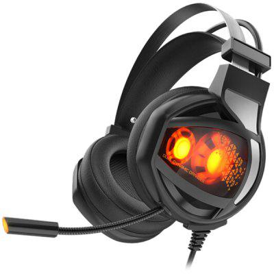 V9 Cuffie da Gioco USB 7.1 Suono Surround Luminose a LED con Controllo del Filo