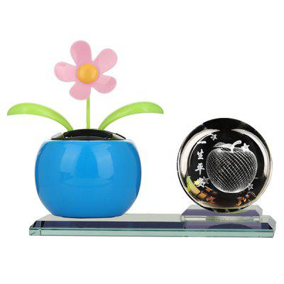 A72583 Car Perfume Aromatherapy Car Laser Engraving Crystal Light Ball Sun Flower Car Interior Decoration