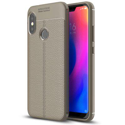TPU Litschi Korn Handy Hülle für Xiaomi Redmi 6 Pro / Mi A2 Lite Internationale Version