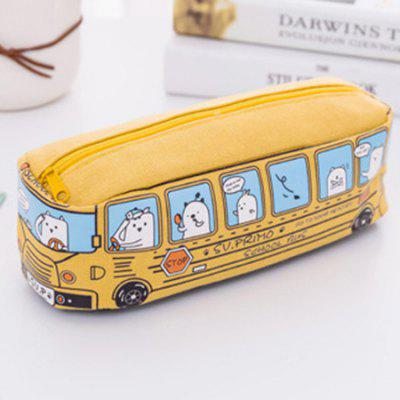 Creative Car Pencil Case Large Capacity Pencil Case Boys And Girls Students Bus Stationery Bag Pencil Bag