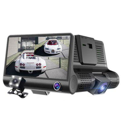 "504 Driving Recorder HD 1080P Hidden 3-way Car 4.0"" 504 (internal Battery)"