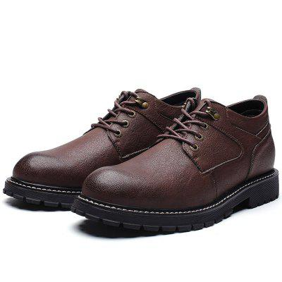 Men Thermal Stylish Wear-resistant Casual Leather Shoes