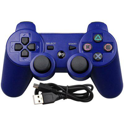 PS3 Gamepad Wireless Bluetooth Dual Vibration Controller with Data Cable