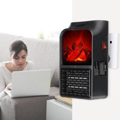 Flame Heater 900W Mini Portable Electric Fireplace Warmer